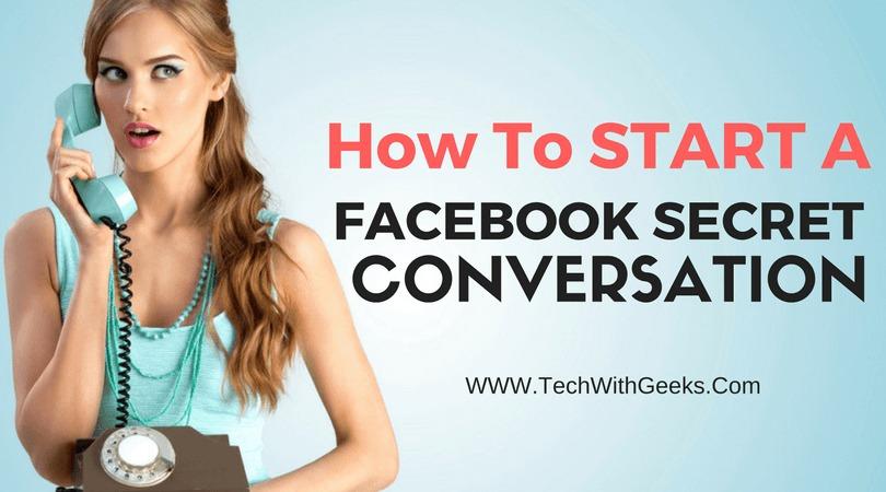 Facebook Secret Conversation