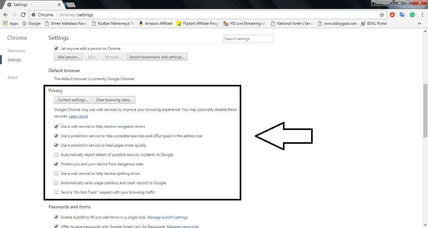 Clear Google Chrome Cache 3clearcachewingcchecks How To Clear Browsing